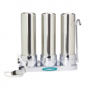 Crystal Quest Countertop Ceramic Water Filter Triple Stainless Steel