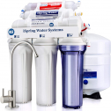 iSpring RCC7AK Under Sink Reverse Osmosis Drinking Water Filter System with Alkaline Remineralization-Natural pH, White