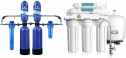 Aquasana EQ-1000-AST-AMZN Water Softener, 1,000,000-Gallon, Blue & APEC Water Systems ROES-50 Essence Series Top Tier 5-Stage Certified Ultra Safe Reverse Osmosis Drinking Water Filter System